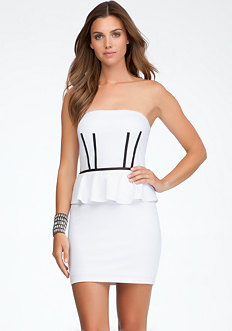 bebe Trim Bustier Dress