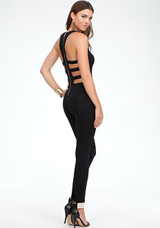 bebe Cage Back Jumpsuit