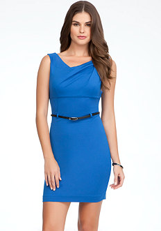 bebe Asymmetric Cowl Dress