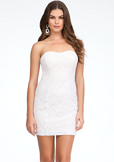 bebe Fitted Lace Dress