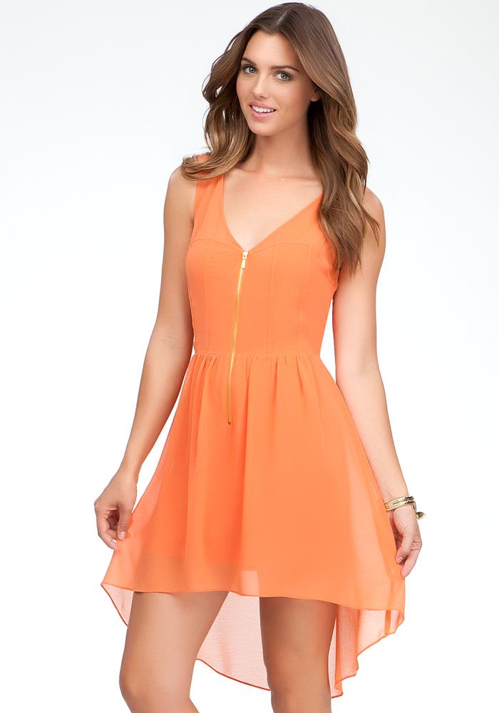 Coleman High Low Zipper Front Dress