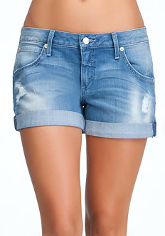 bebe Joplin Boyfriend Denim Shorts