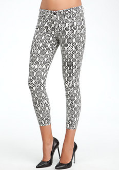 bebe Medallion Icon Crop Jeans