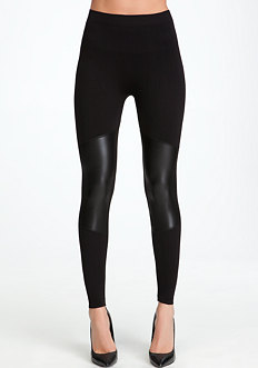 Patch Leatherette Leggings - ONLINE EXCLUSIVE at bebe