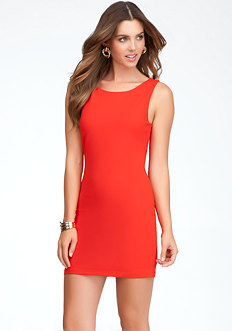 bebe Exposed Back Bodycon Dress