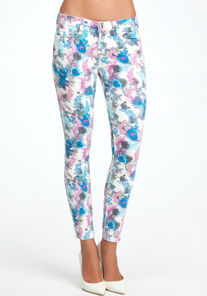 Feather Floral Icon Skinny Jeans