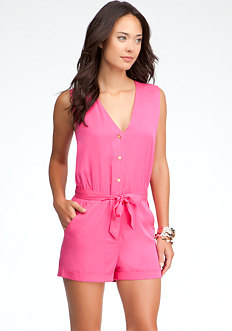 bebe Placket Front Romper