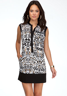 bebe Printed Shift Dress