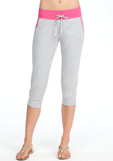 bebe French Terry Skinny Fit Crop