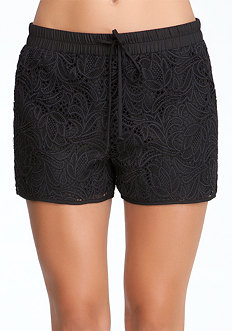 bebe Lace Overlay Soft Shorts
