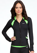 bebe Ruched Colorblock Hoodie - BEBE SPORT ONLINE EXCLUSIVE