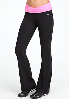 bebe Ruched Colorblock Pant - BEBE SPORT ONLINE EXCLUSIVE