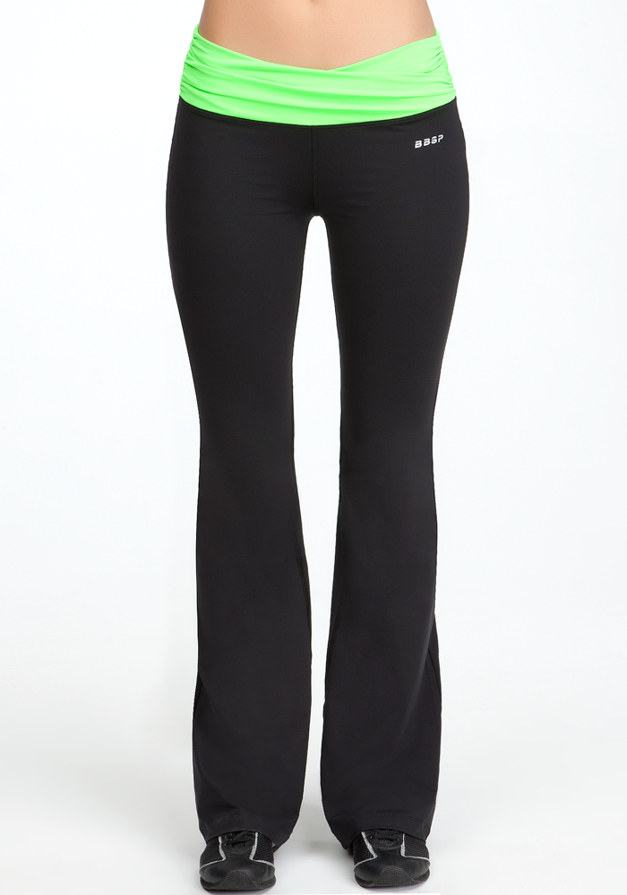 Ruched Colorblock Pant - BEBE SPORT ONLINE EXCLUSIVE