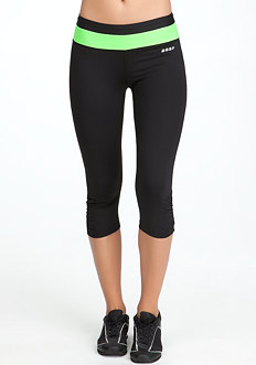 bebe Colorblock Running Crop Pant - BEBE SPORT ONLINE EXCLUSIVE