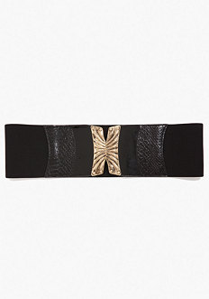 bebe Exotic Closure Stretch Belt