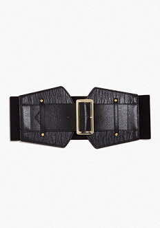 Wide Snake Buckle Stretch Belt - ONLINE EXCLUSIVE at bebe