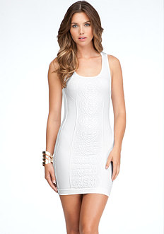 bebe Textured Chain Tank Dress