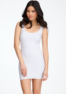 bebe Crochet Bodycon Dress