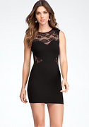 bebe Lace Inset Dress - ONLINE EXCLUSIVE