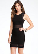 bebe Mesh Panel Dress -ONLINE EXCLUSIVE
