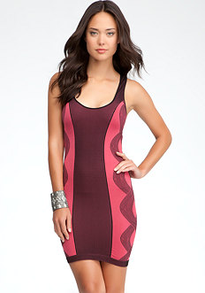 bebe Side Twist Colorblock Dress - ONLINE EXCLUSIVE