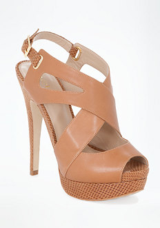 bebe Taj Cross Strap Sandals