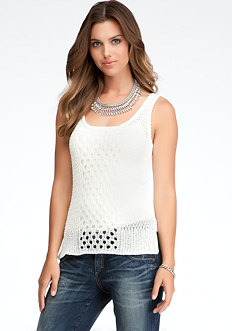 bebe High Low Mesh Tank - ONLINE EXCLUSIVE
