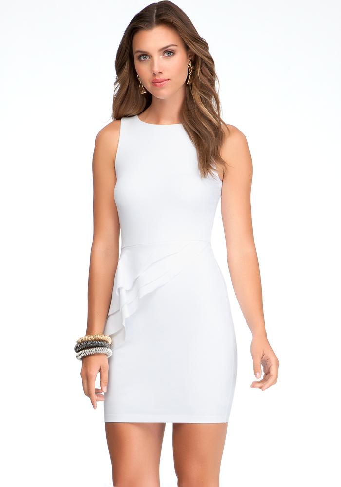 Asymmetric Layer Peplum Dress - ONLINE EXCLUSIVE