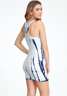 bebe Tie Dye Racerback Bodycon Dress - ONLINE EXCLUSIVE