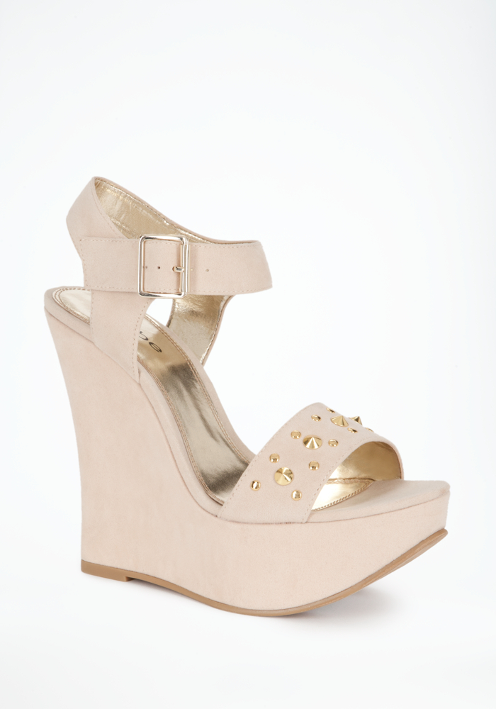 Heather Self Wrap Studded Wedge - ONLINE EXCLUSIVE