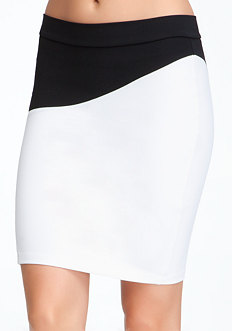 Colorblock Zipper Skirt - ONLINE EXCLUSIVE at bebe