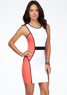 bebe Colorblock Tank Dress - ONLINE EXCLUSIVE