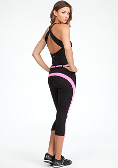 bebe Belted Colorblock Jumpsuit - BEBE SPORT ONLINE EXCLUSIVE