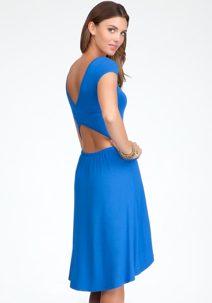 Open Back High Low Dress