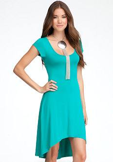 bebe Open Back High Low Dress