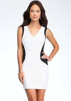 bebe Geometric Hourglass Dress