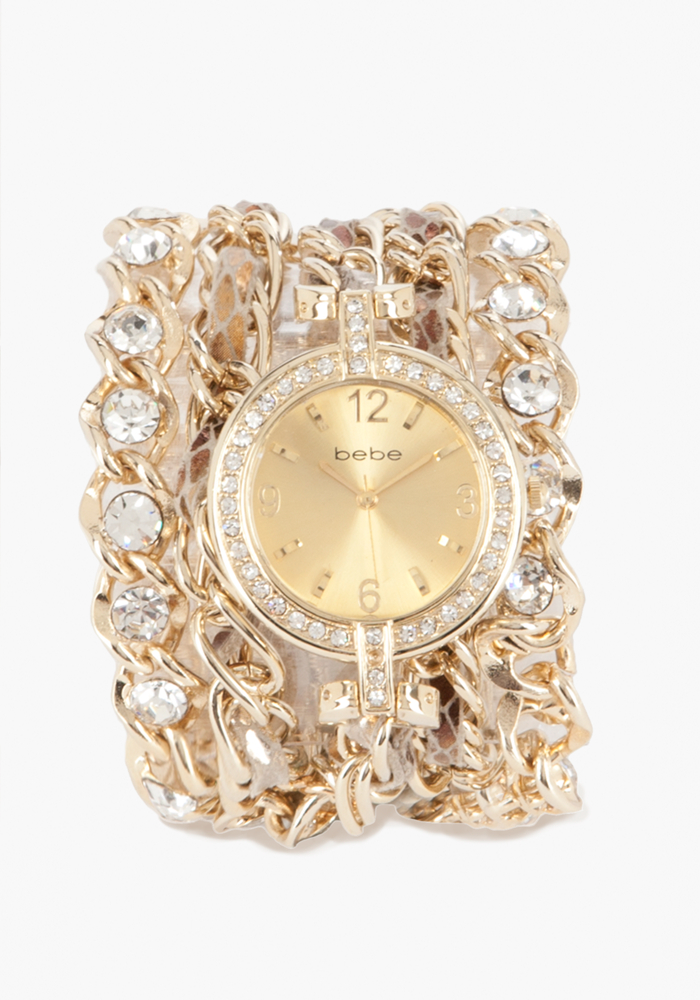 Rhinestone & Chain Snake Watch