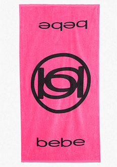 Logo Beach Towel - ONLINE EXCLUSIVE at bebe