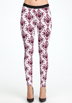 Nirvana Damask Leggings at bebe