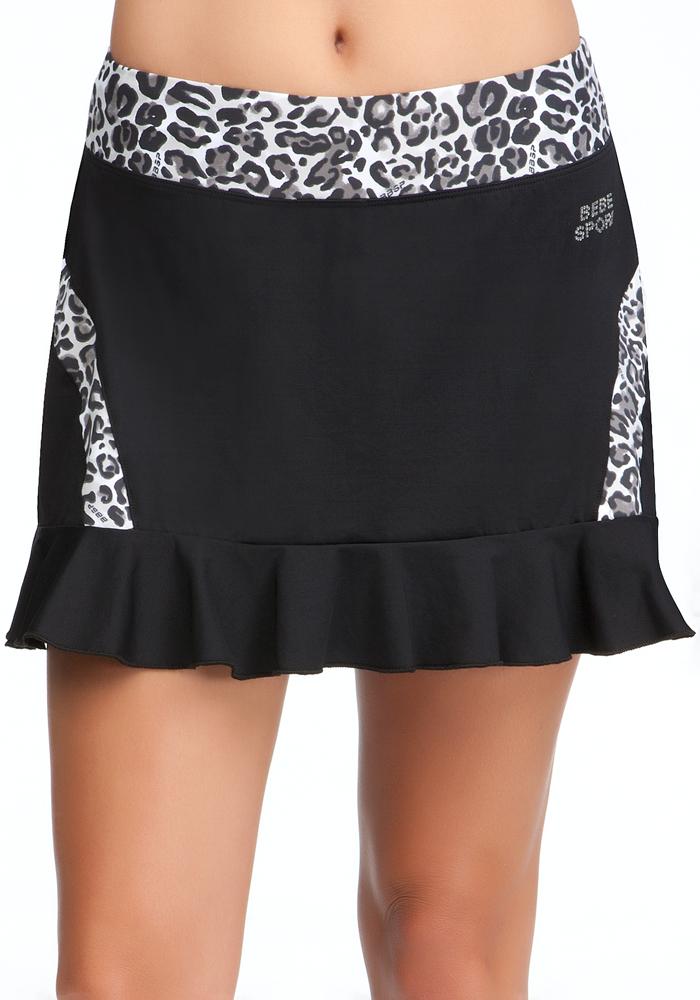 Leopard Print Tennis Skirt - BEBE SPORT ONLINE EXCLUSIVE