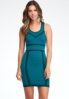 Diamond Pattern Bodycon Dress - ONLINE EXCLUSIVE at bebe