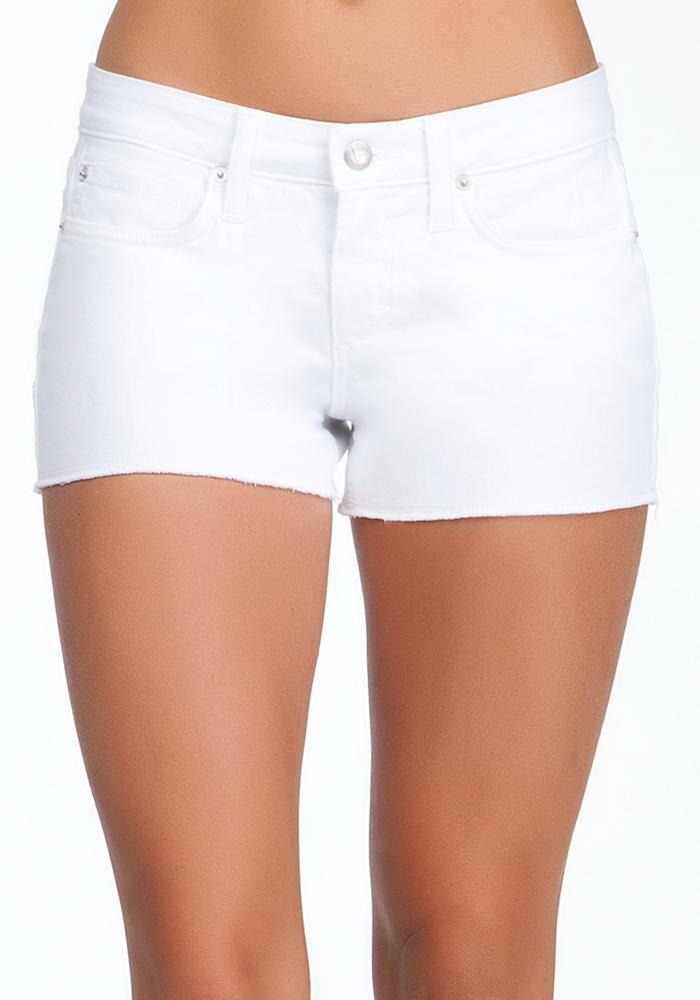 Raw Edge Icon Denim Shorts