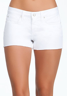 bebe Raw Edge Icon Denim Shorts