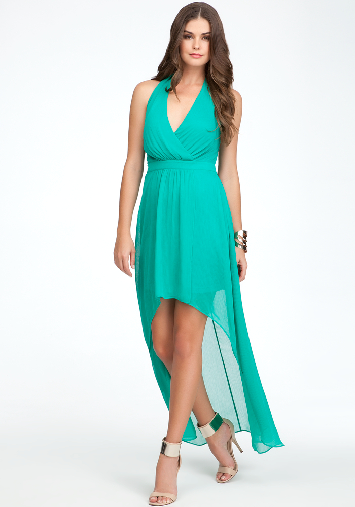Halter High Low Maxi Dress