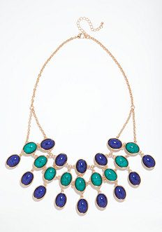 bebe Reversible Stone Necklace