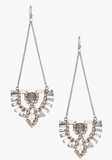 bebe Art Deco Drop Earrings
