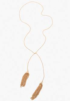 bebe Tassel Strand Necklace
