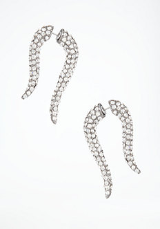 bebe Pave Horn Tunnel Earrings