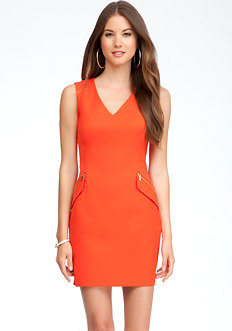 bebe Zipper Pocket Dress