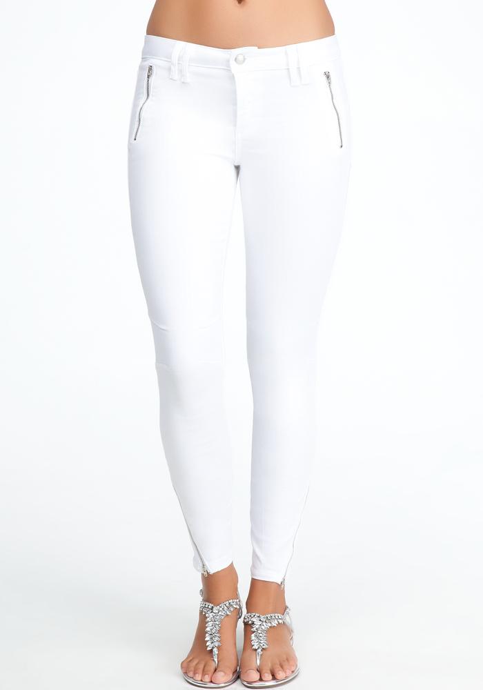 Clean Zipper Moto Skinny Jeans